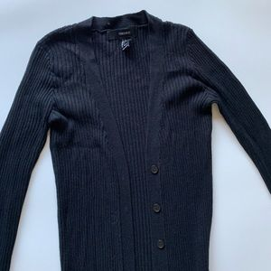 Forever 21 Sweaters - S Long Black Cotton Cardigan Sweater